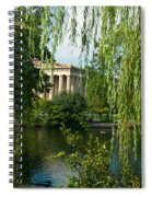 A View Of The Parthenon 9 Spiral Notebook