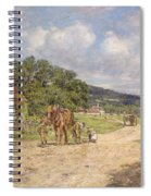 A Village Scene Spiral Notebook
