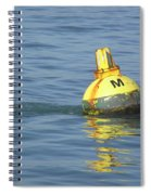 A Water Buoy In The Blue Water Of San Francisco Bay Spiral Notebook