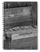 A Weathered Bench Black And White Spiral Notebook
