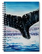 A Whale And A Violet Sunset Spiral Notebook