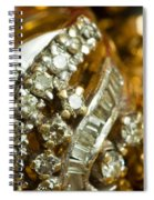 A White Gold Bracelet Among Other Yellow Gold Jewellery Spiral Notebook