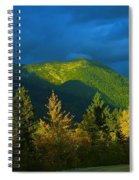 A Winding Autumn Road  Spiral Notebook