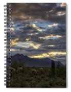 A Winter Sunrise In The Desert  Spiral Notebook