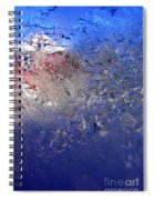 A Wintry Icy Window Spiral Notebook