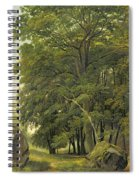 A Wooded Landscape  Spiral Notebook