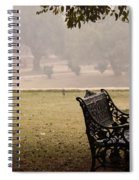 A Wrought Iron Black Metal Bench Under A Tree In The Qutub Minar Compound Spiral Notebook