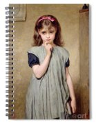 A Young Girl In The Classroom Spiral Notebook