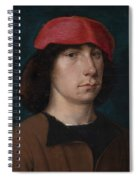 A Young Man In A Red Cap Spiral Notebook
