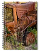 Abandonded Farm Tractor 1 Spiral Notebook