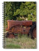 Abandonded Farm Tractor 2 Spiral Notebook