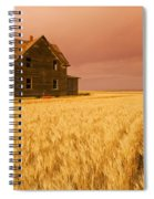 Abandoned Farm House, Wind-blown Durum Spiral Notebook
