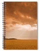 Abandoned Farm In Durum Wheat Field Spiral Notebook