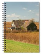 Abandoned Farmhouse In Field 2 Spiral Notebook