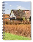 Abandoned Farmhouse In Field 4 Spiral Notebook