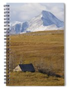 Abandoned Farmhouse Outside Of Waterton Spiral Notebook