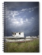 Abandoned Fishing Boat In Washington State Spiral Notebook