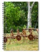 Abandoned Hay Rake 2 Spiral Notebook
