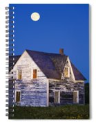 Abandoned House And Moon At Dusk Spiral Notebook
