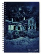 Abandoned House At Night Spiral Notebook