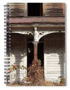 Abandoned House Facade Rusty Porch Roof Spiral Notebook