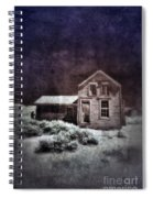 Abandoned House In Infrared Spiral Notebook