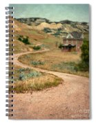 Abandoned House On Dirt Road Spiral Notebook
