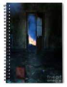 Abandoned House On Fire Spiral Notebook