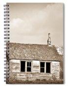 Abandoned Montana Shcoolhouse Spiral Notebook