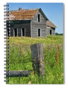 Abandoned Prairie Farmhouse No.4221 Spiral Notebook
