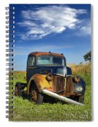 Abandoned Rusty Truck Spiral Notebook