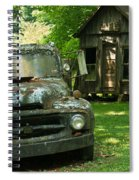 Abandoned Truck At Post Office Spiral Notebook