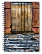 Abandoned Wood Building Spiral Notebook