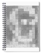 Abe In Negative Black And Grey Spiral Notebook