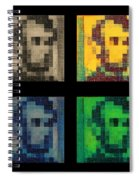Abe In Quad Colors Spiral Notebook