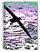 Above The Waves Spiral Notebook