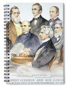 Abraham Lincolns Cabinet Spiral Notebook