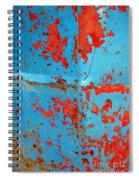 Abstrac Texture Of The Paint Peeling Iron Drum Spiral Notebook