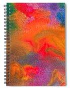 Abstract - Crayon - Melody Spiral Notebook