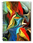 Abstract 021712 Spiral Notebook