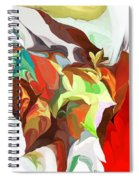 Abstract 090112 Spiral Notebook