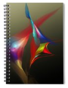 Abstract 091612a Spiral Notebook