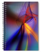 Abstract 101211 Spiral Notebook