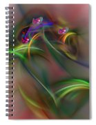 Abstract 101211b Spiral Notebook