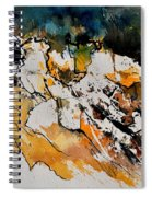 Abstract 210152 Spiral Notebook