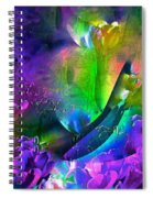 Abstract 255 Spiral Notebook