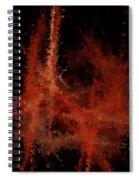 Abstract A Paris Evening Spiral Notebook