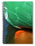 Abstract Boat Stern Spiral Notebook