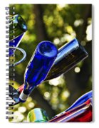 Abstract Bottle Structure Spiral Notebook