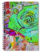Abstract Childlike Rose Spiral Notebook